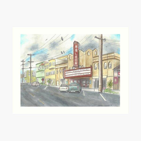 Balboa Theater  Art Print