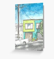 """""""Home by the Beach"""" by Robin Galante Greeting Card"""