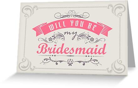 Will you be my bridesmaid? by nektarinchen