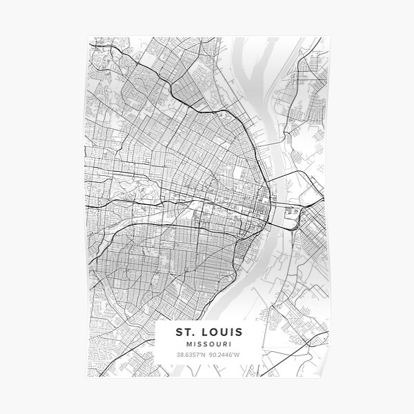 St. Louis Map  Poster