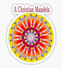 A Christian Mandela Sticker