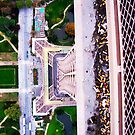 Eiffel Tower From Above by Julie Masters