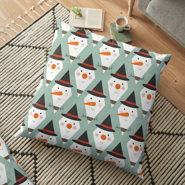 Snowmen Meltdown Floor Pillow
