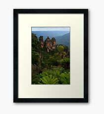 The Three Sisters, Katoomba. Framed Print
