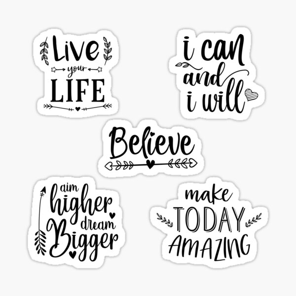Quotes To Live By – Multi Design Set Sticker