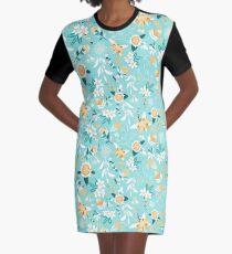 Stylized Australian Flora Graphic T-Shirt Dress