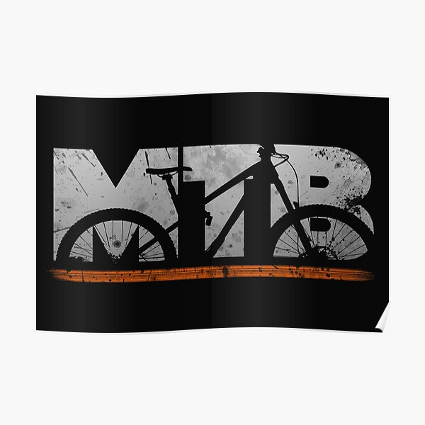 Cool MTB Mountain Bike Mountain Bike Downhill Gift Poster