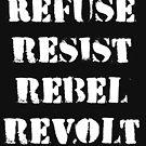 Ablehnen, Widerstand leisten, Rebell, Aufstand von CreativeTs