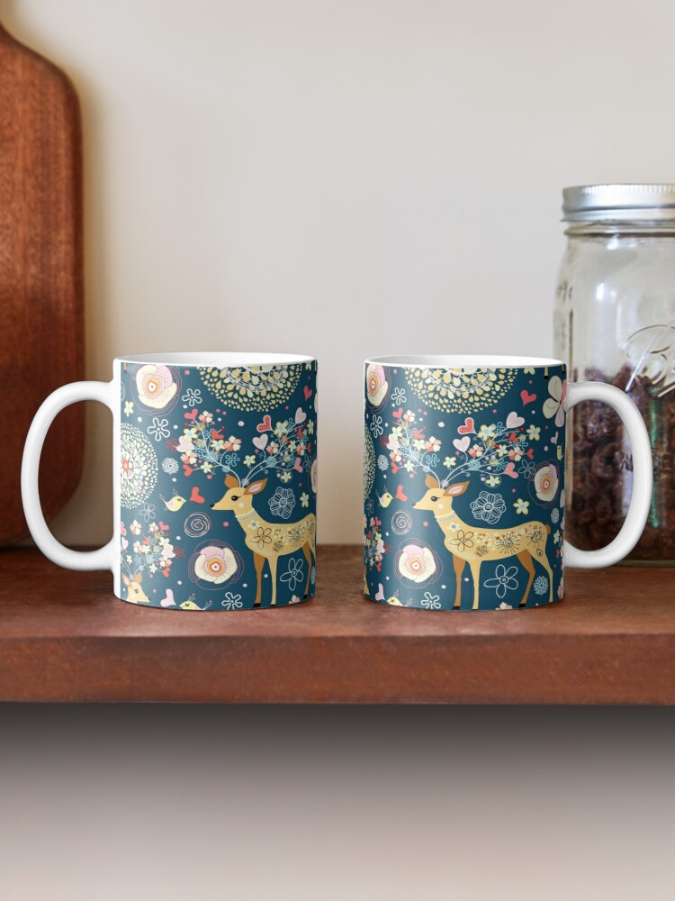 Alternate view of pattern festive reindeer Mug