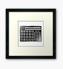 Black calculator Framed Print