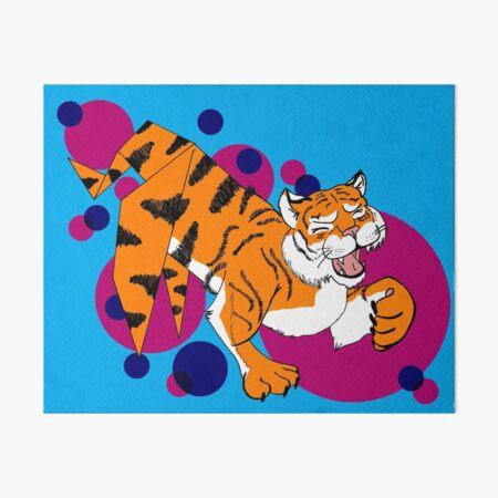 Paper Tiger Art Board Print