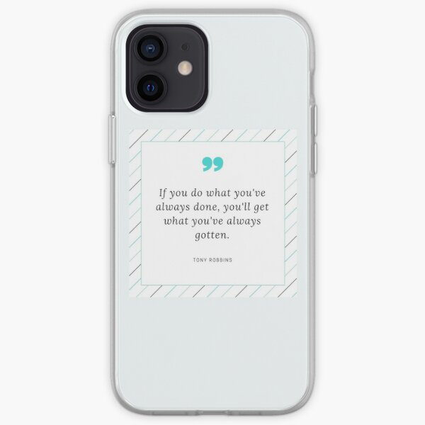 Tony Robbins Quote iPhone Soft Case