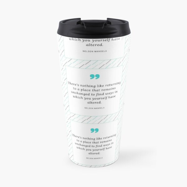Nelson Mandela Quote Travel Mug
