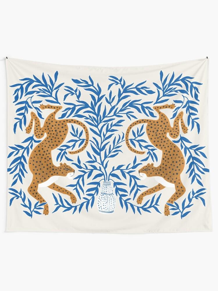 Alternate view of Jungle Jaguar Tapestry