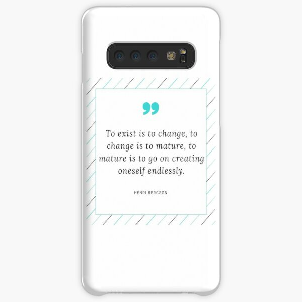 Henri Bergson Quote Samsung Galaxy Snap Case