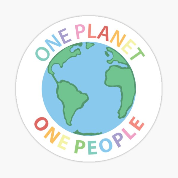 One Planet One People Sticker
