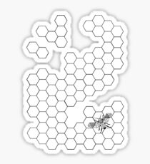 Beehive and Bee Sticker