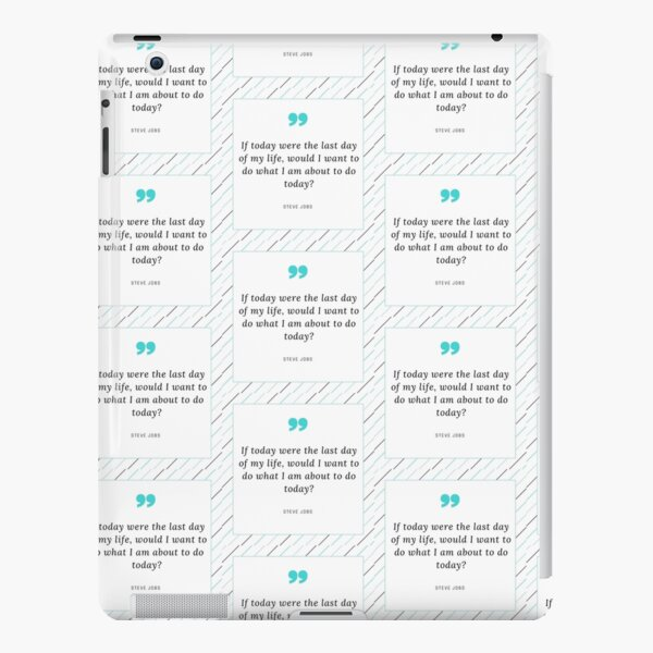 Steve Jobs Quotes iPad Snap Case