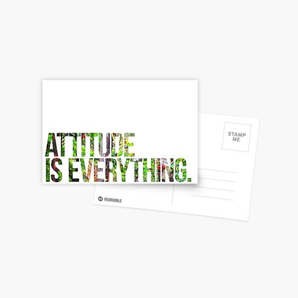La actitud lo es todo Postal