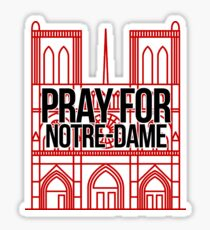 Pray for Notre-Dame / Notre Dame in fire Sticker