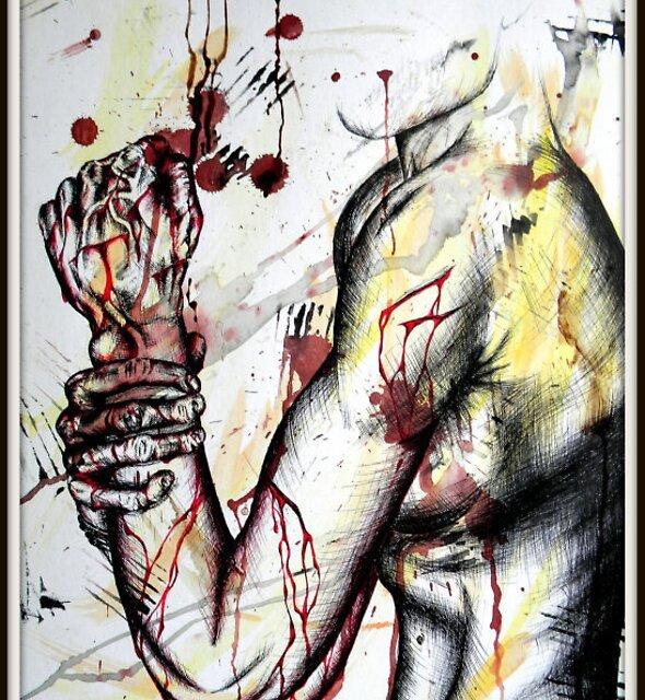 Key to Release: Self-Portrait of Suffering by strobot