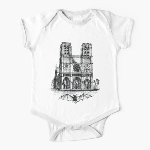 Notre-Dame de Paris #NotreDameinParis #NotreDamedeParis #NotreDame Short Sleeve Baby One-Piece