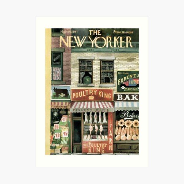 Vintage New Yorker Cover - Circa 1947 Art Print