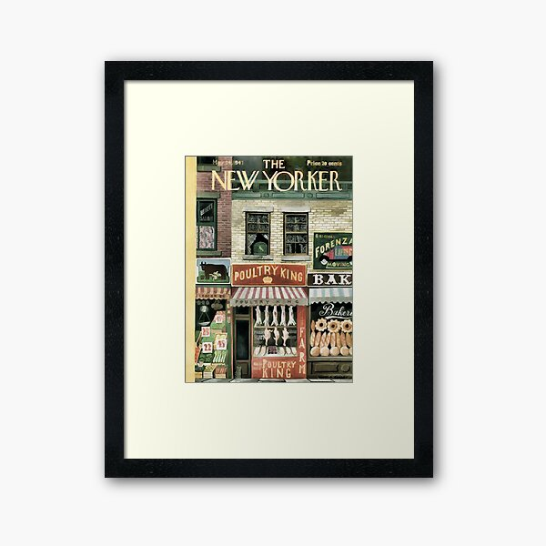 Vintage New Yorker Cover - Circa 1947 Framed Art Print