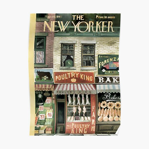 Vintage New Yorker Cover - Circa 1947 Poster