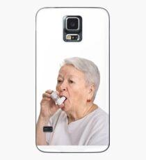 Alte Dame mit Inhalator Hülle & Skin für Samsung Galaxy