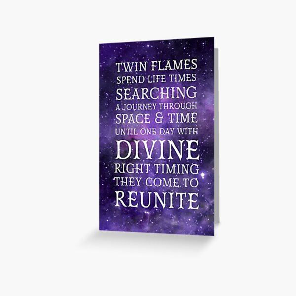 Twin Flames Reunite Greeting Card