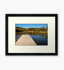 Posey Lake in the fall. Framed Print