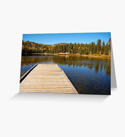 Posey Lake in the fall. Greeting Card