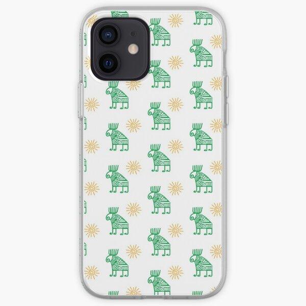 Tribal reindeer iPhone Soft Case