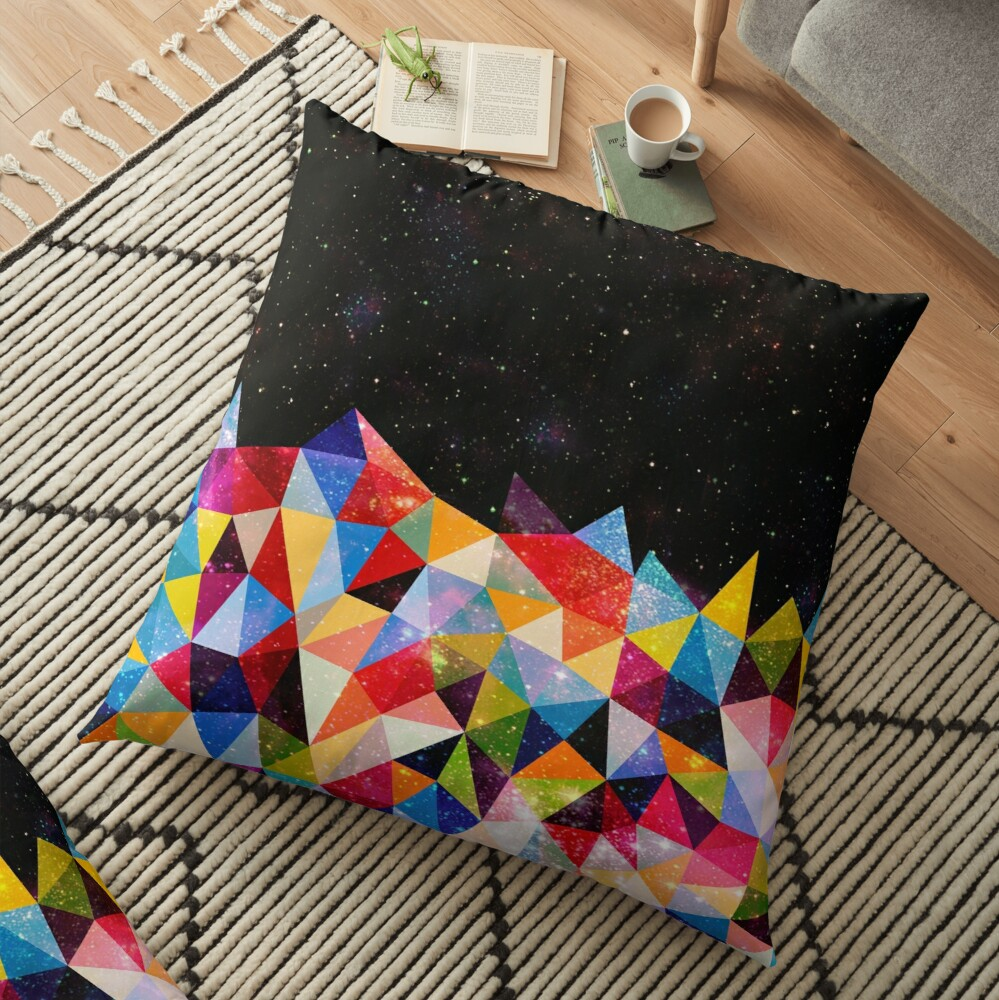 Space Shapes Floor Pillow