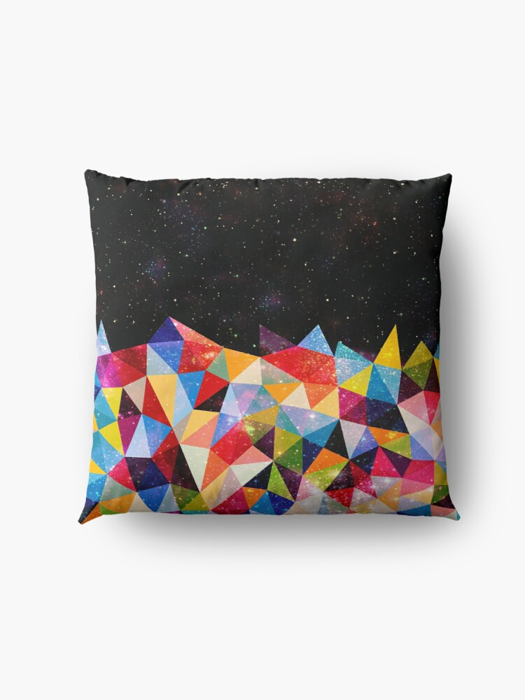 Alternate view of Space Shapes Floor Pillow