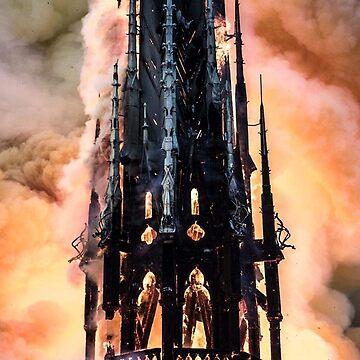 Notre-Dame de Paris in Fire #NotreDameinParis #NotreDamedeParis #NotreDame #NotreDameFire by znamenski