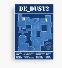 CSGO DE_Dust 2 Canvas Print