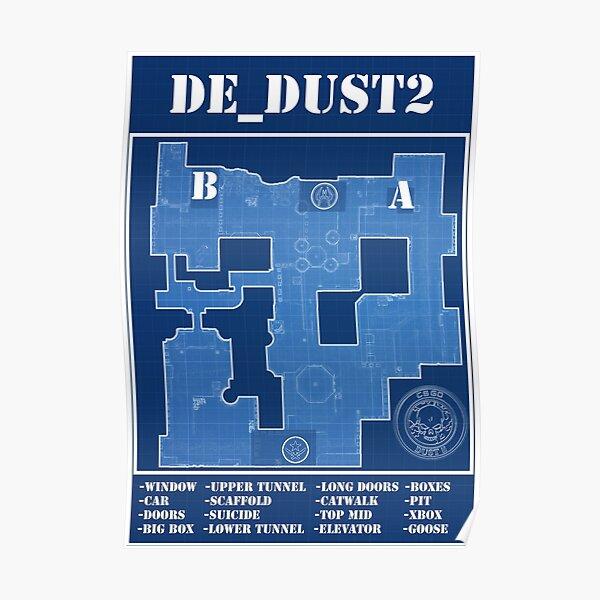 CSGO DE_Dust 2 Póster