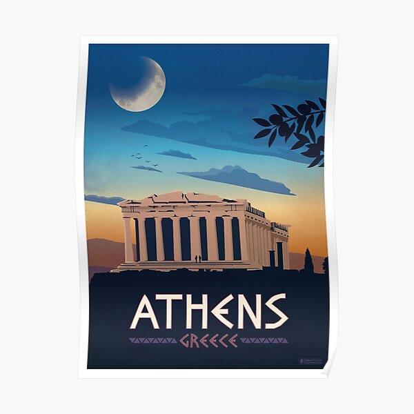 Vintage Athens Greece Travel Poster Poster