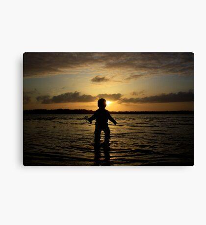 Boy in the Bay Canvas Print
