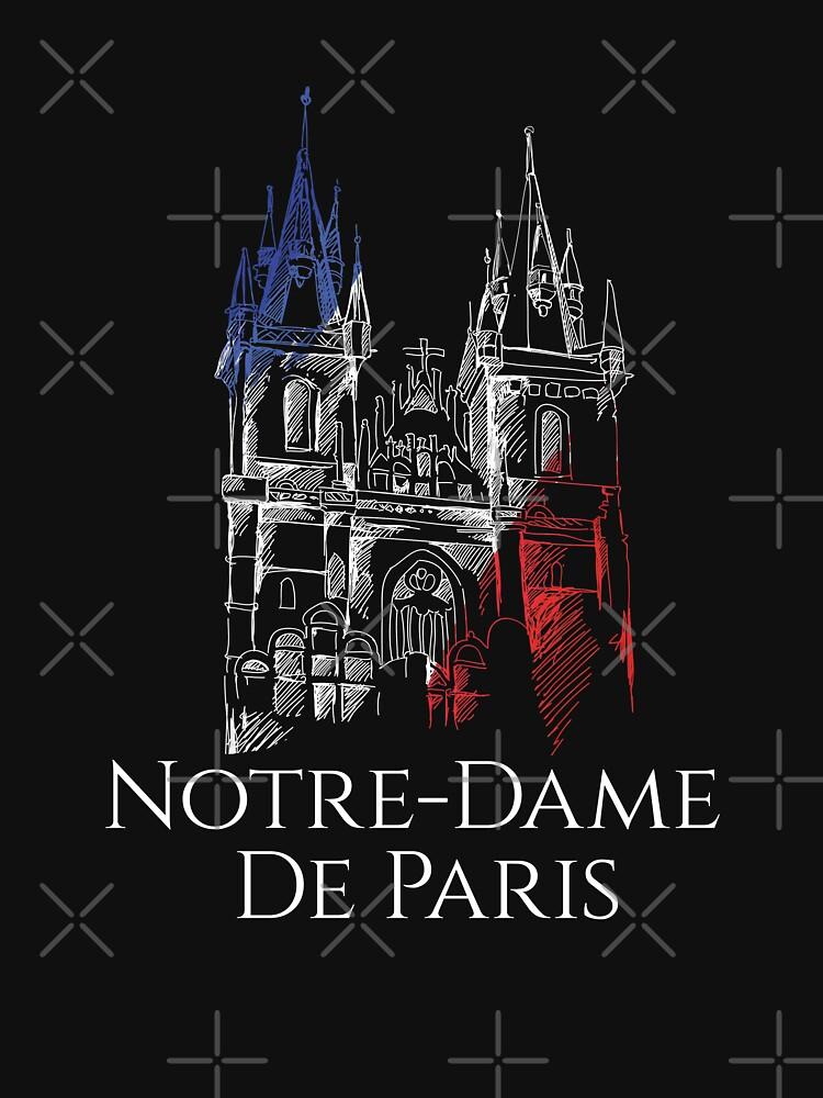 Notre Dame Cathedral De Paris Shirt, Notre-Dame De Paris Cathedral Shirt by BKLS