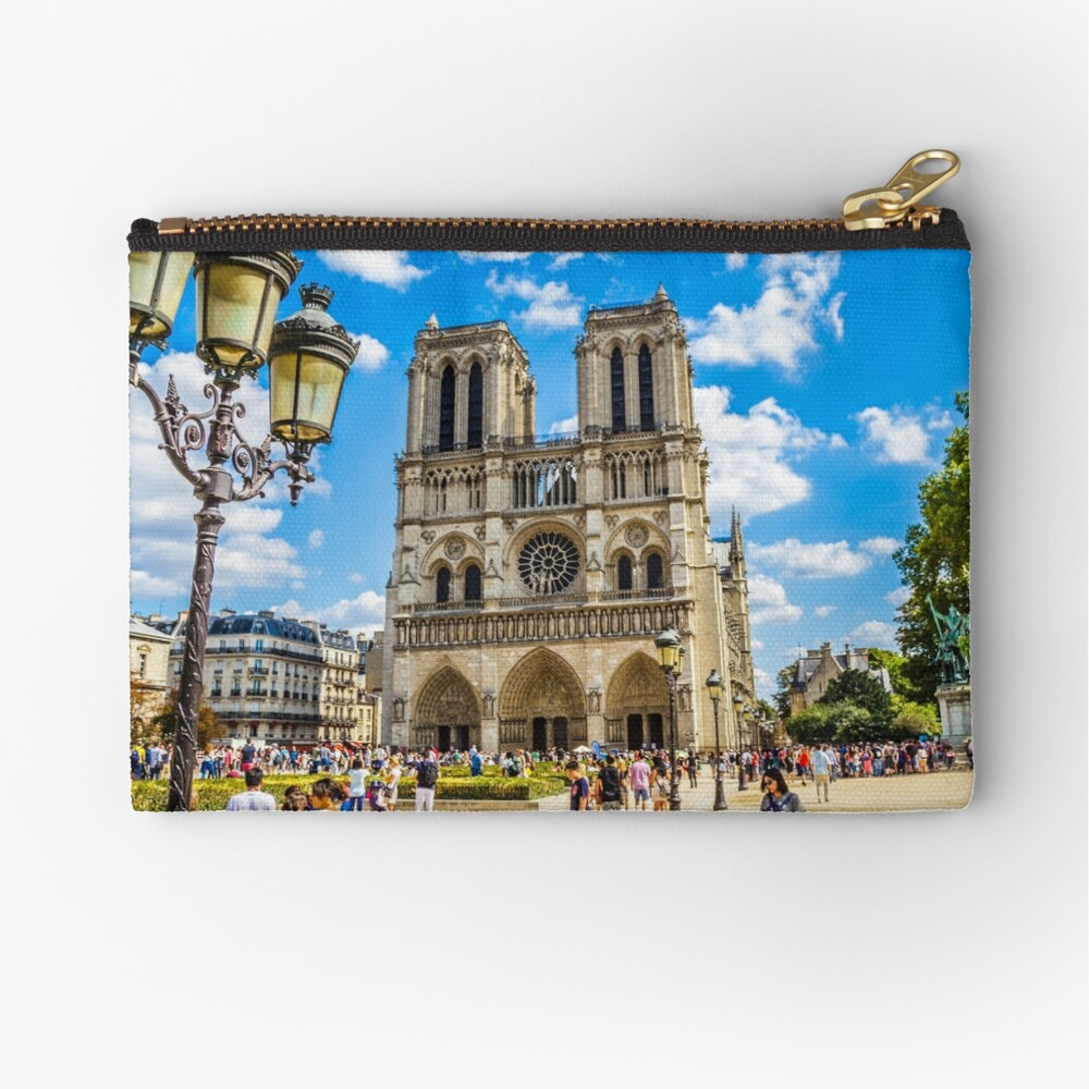 Notre Dame Cathedral Zipper Pouch