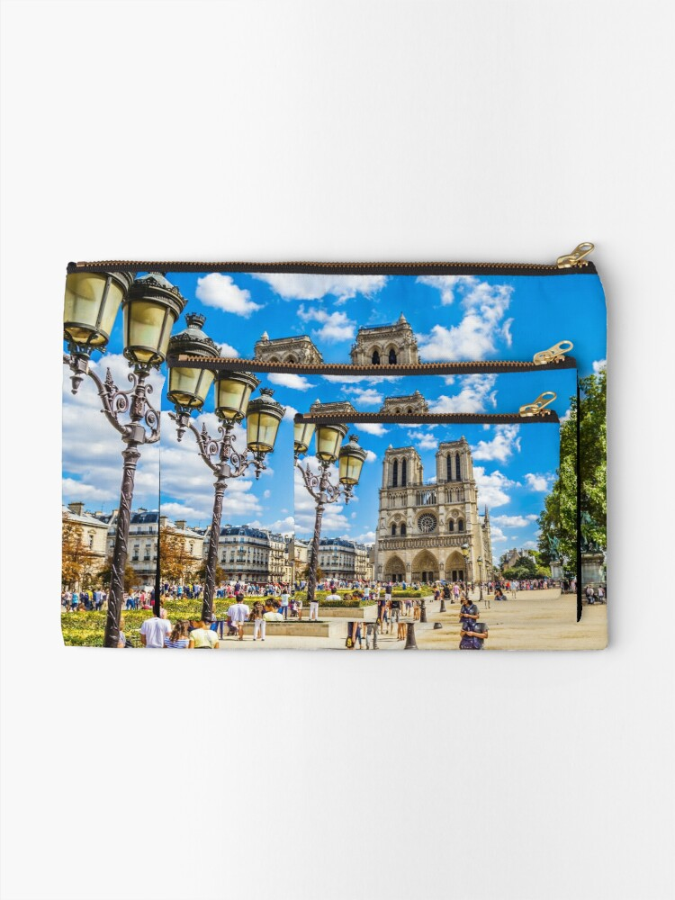 Alternate view of Notre Dame Cathedral Zipper Pouch