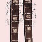 Fret Legs Guitar Fretboard Prints by SimplyMary
