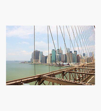New York City from Brooklyn bridge Photographic Print