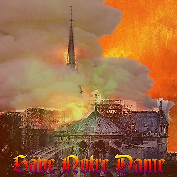 Notre Dame Fire by EyeMagined