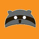 Orange Raccoon Hat by Bike Commuter Cabal