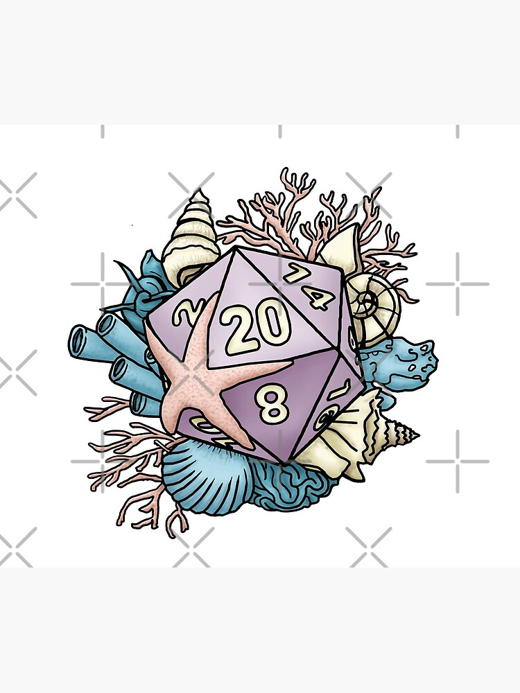 Mermaid D20 Tabletop RPG Gaming Dice  by SweetDelilahs