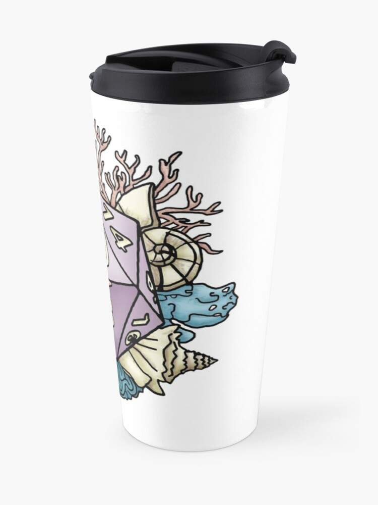 Alternate view of Mermaid D20 Tabletop RPG Gaming Dice  Travel Mug